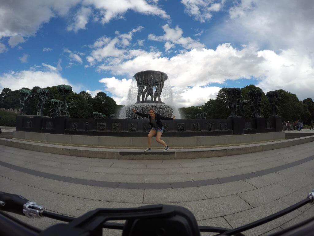 Vigeland Park fountain.