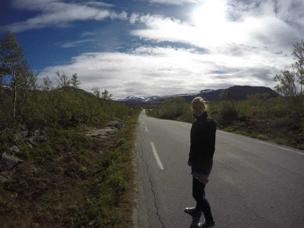 Beseggen, the road to the trail.